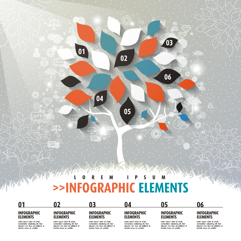 Leaves Business Infographic Vector