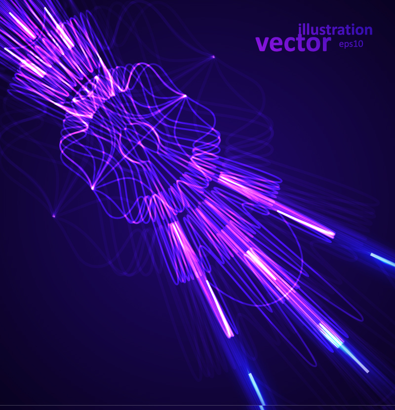 Purple Curve Background Vector