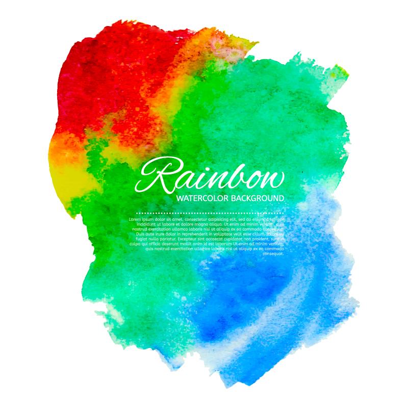 Rainbow Watercolor Backgroud Vector