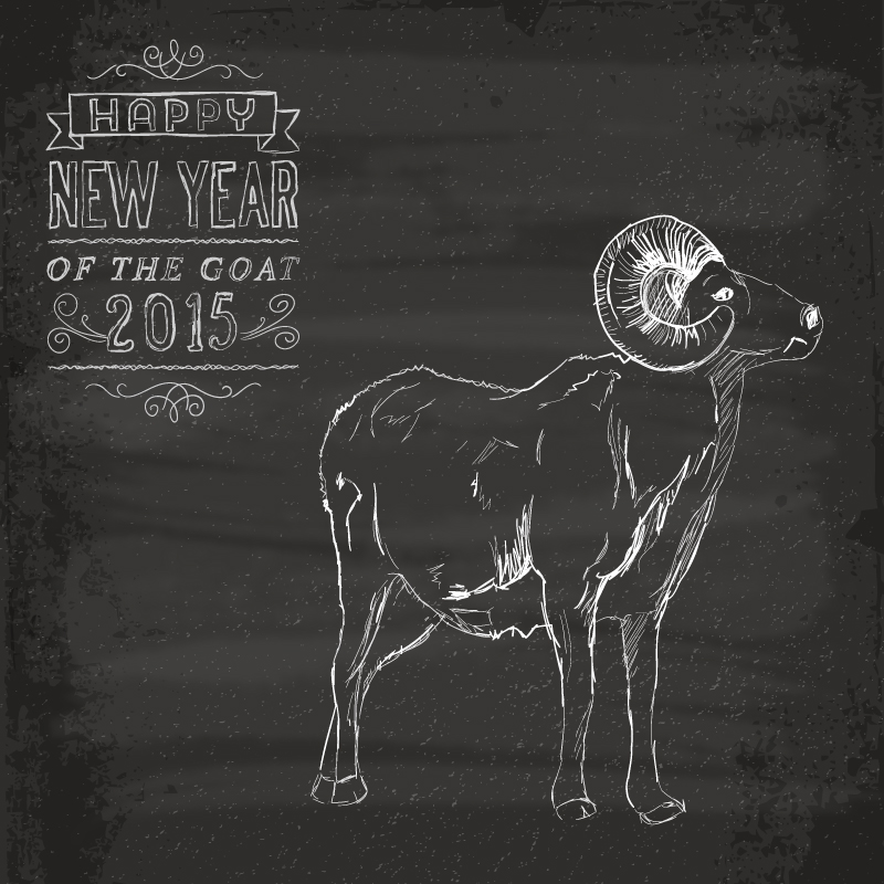 2015 Painted Goat Vector