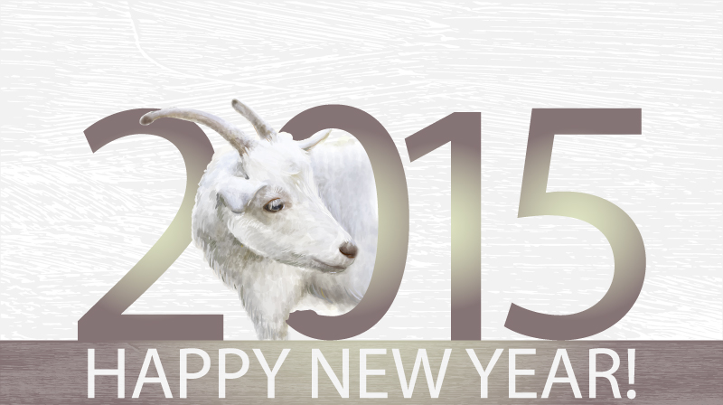 2015 Sheep Head Background Vector