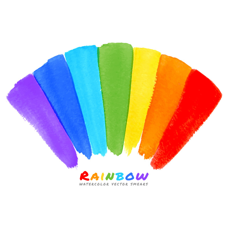 Rainbow Sector Background Vector
