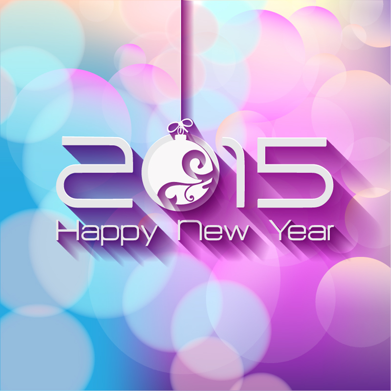 Happy New Year 2015 Xball Vector