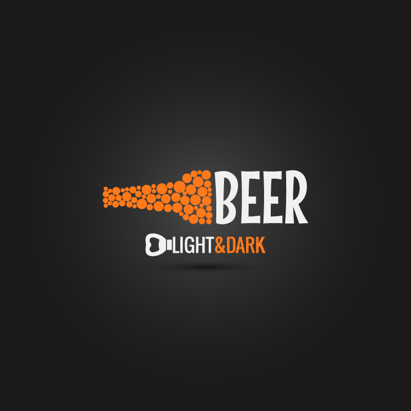 Beer Light Dark Vector