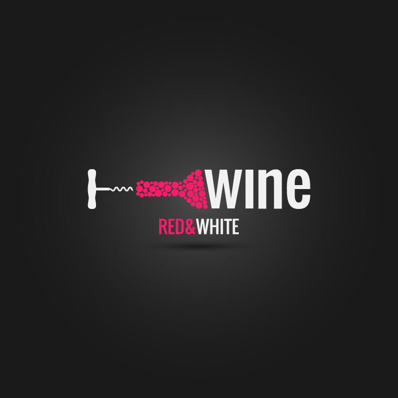 I Love Wine Red White Vector