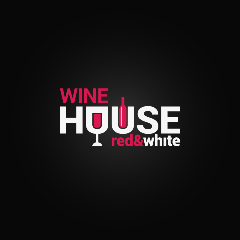 Wine House Red White Vector
