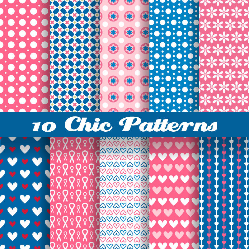 10 Chic Patterns Vector