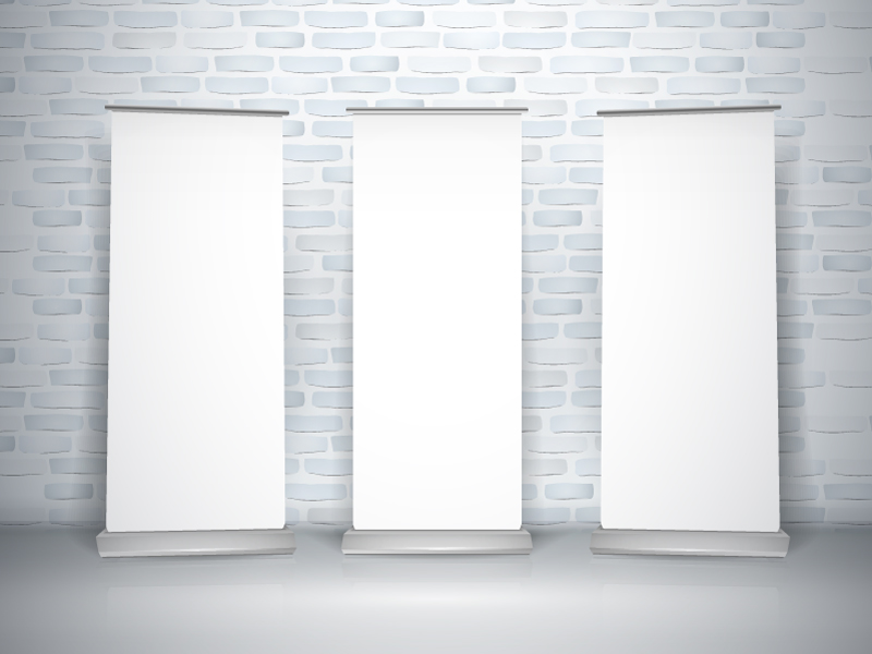 Blank Wall Panels Vector