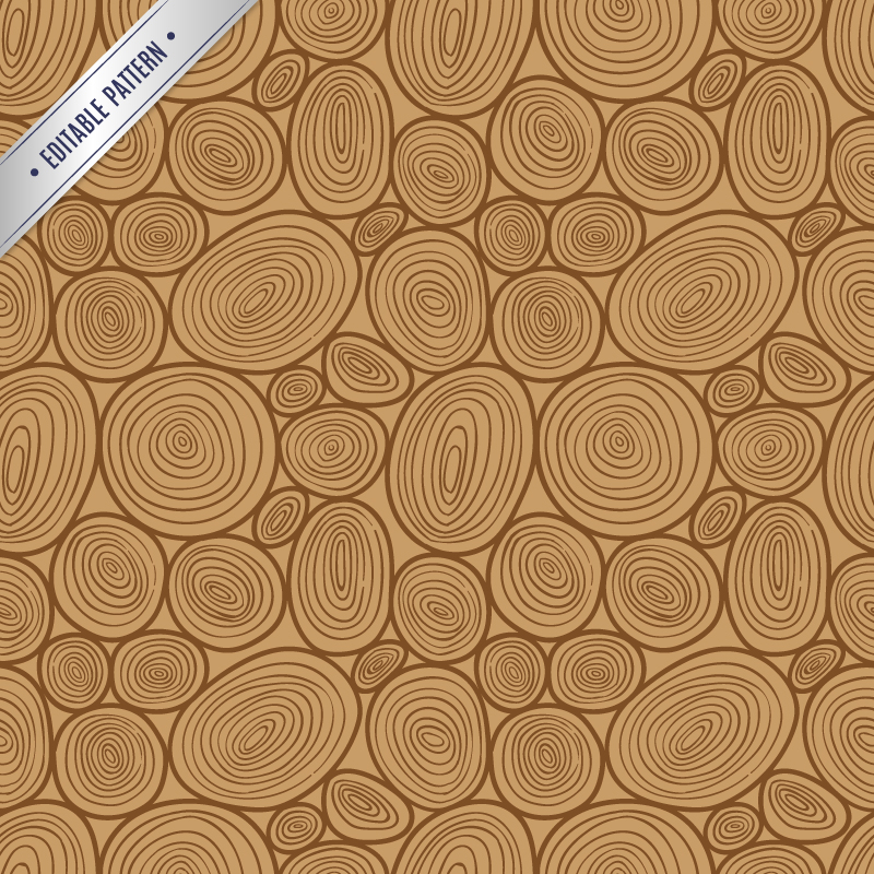 Editable Wooden Pattern Vector