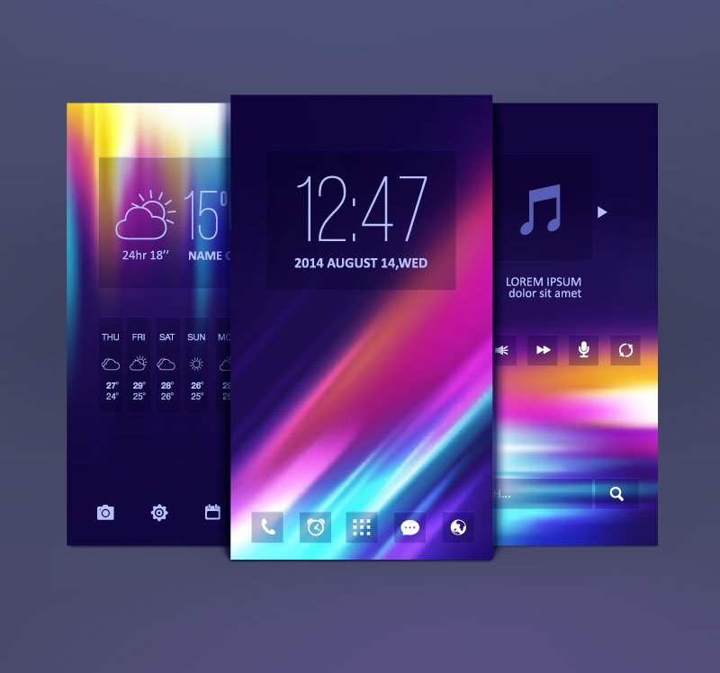 Mobile Themes Design Vector | Free Vector Graphic Download