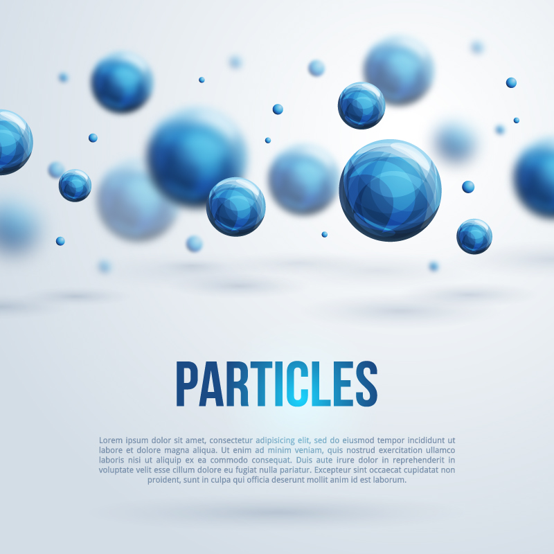 Particles Business Background Vector