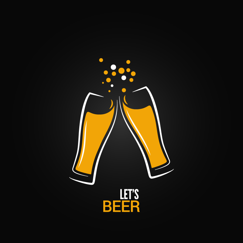 Yellow Lets Beer Vector