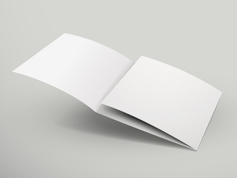 Blank Book Page Vector