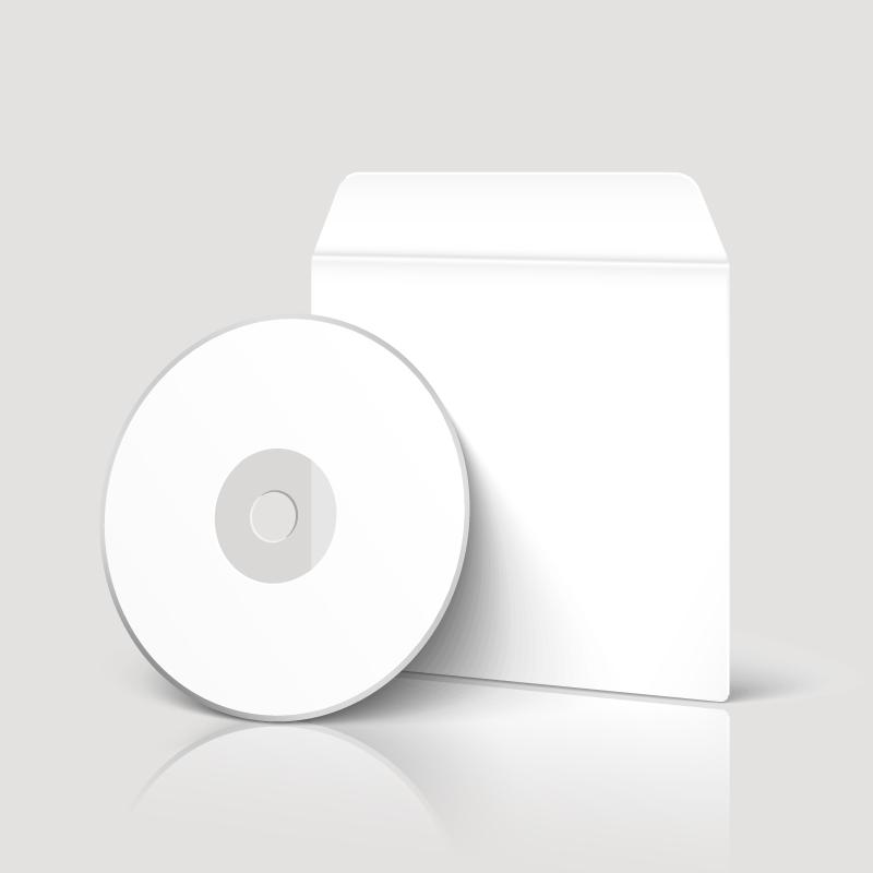 Blank CD Disk Vector
