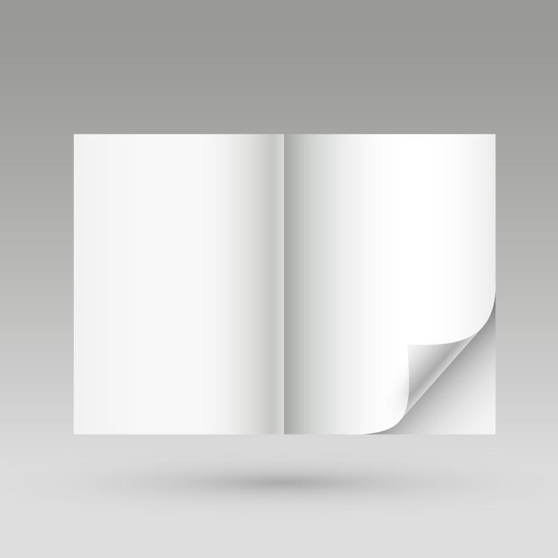 Blank Flip Book Vector