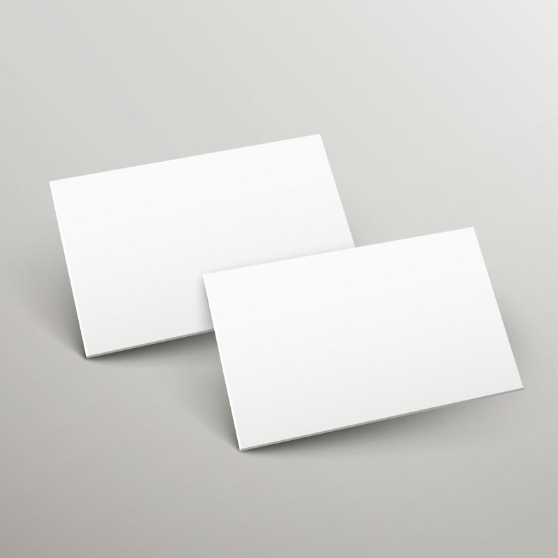 Blank Paper Mockup Vector
