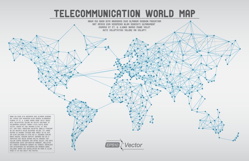 Telecommunication world map vector free vector graphic download telecommunication world map vector telecommunication world map vector free download gumiabroncs Image collections