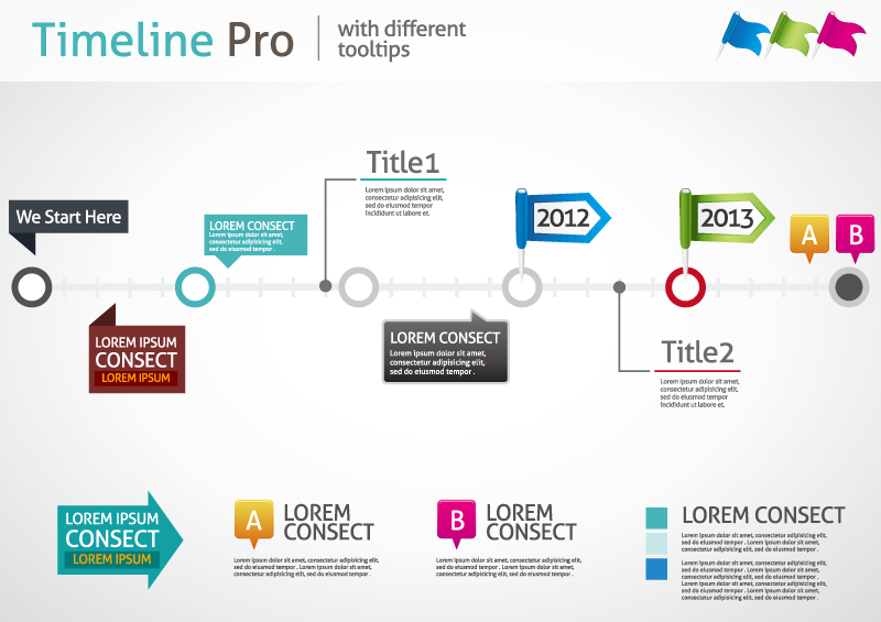 Timeline Pro with Different Tooltips Vector