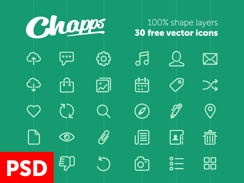30 Chapps Shape Layer PSD