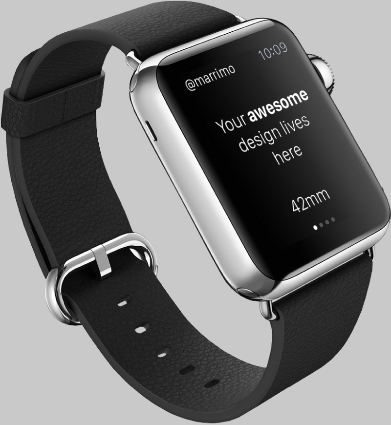 Black Apple Watch PSD