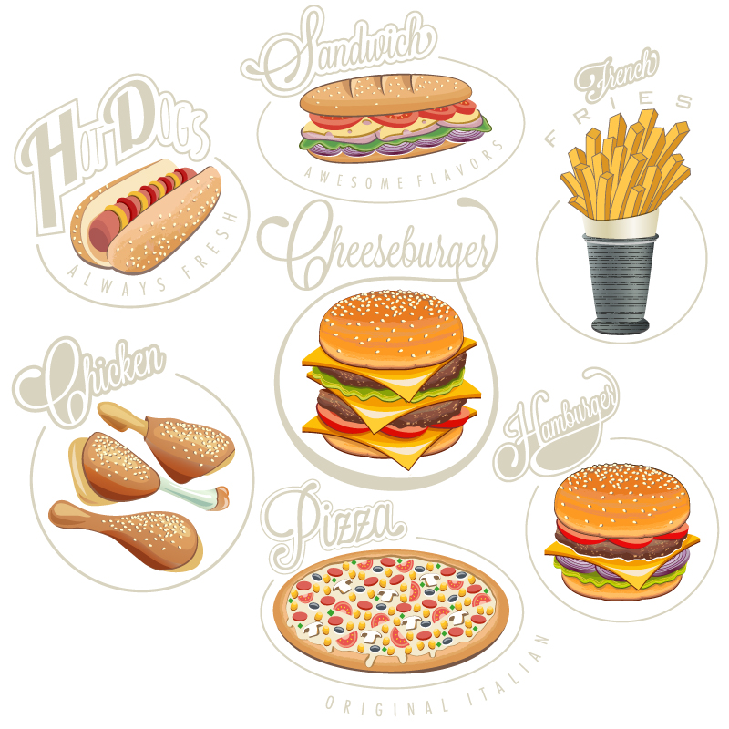 Delicious Snack Food Vector
