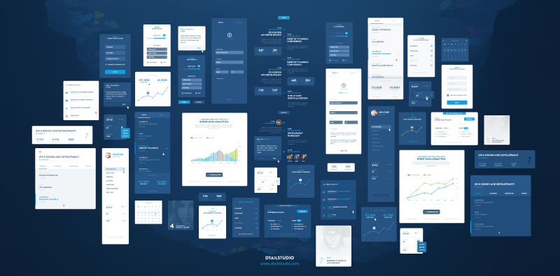 Event Ray UI Kit DtailStudio PSD