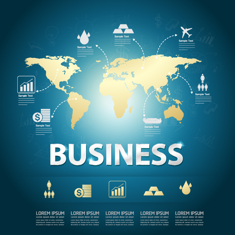 Finance Business Map Vector