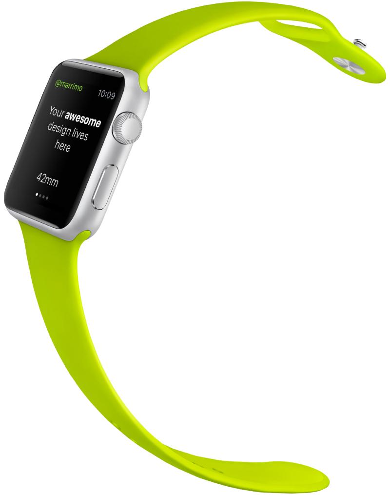 Green Black Apple Watch PSD