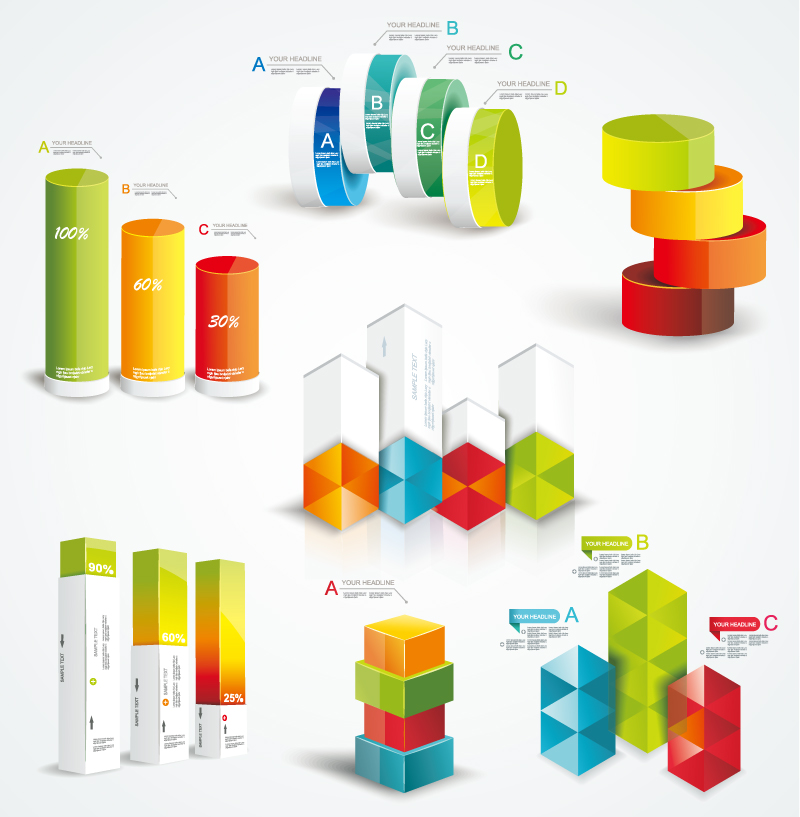 Infographic Cylinder Vector