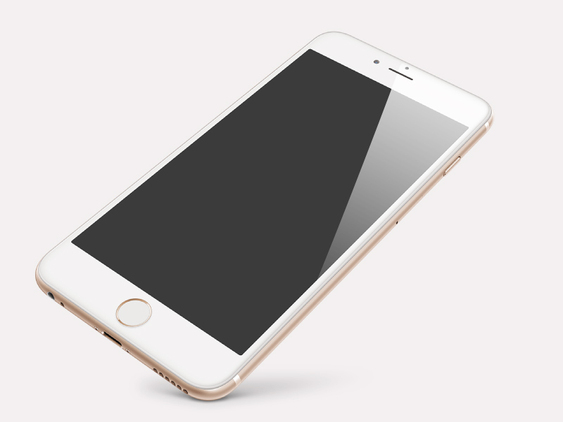 Perspective Gold iPhone 6 Plus PSD