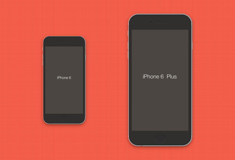 iPhone 6 & iPhone 6 Plus Mockup PSD