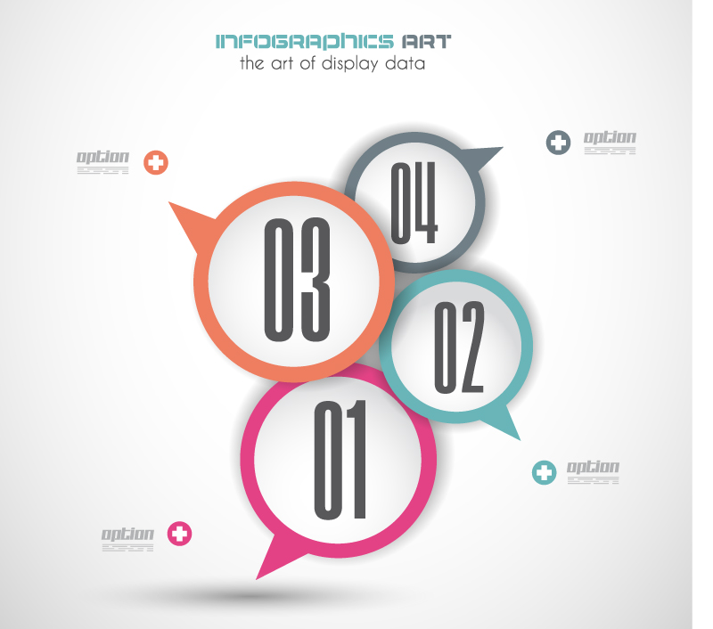 Bubble Speech Big Infographic Vector