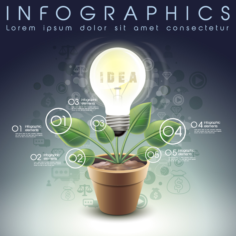 Idea Bulb Infographic Vector