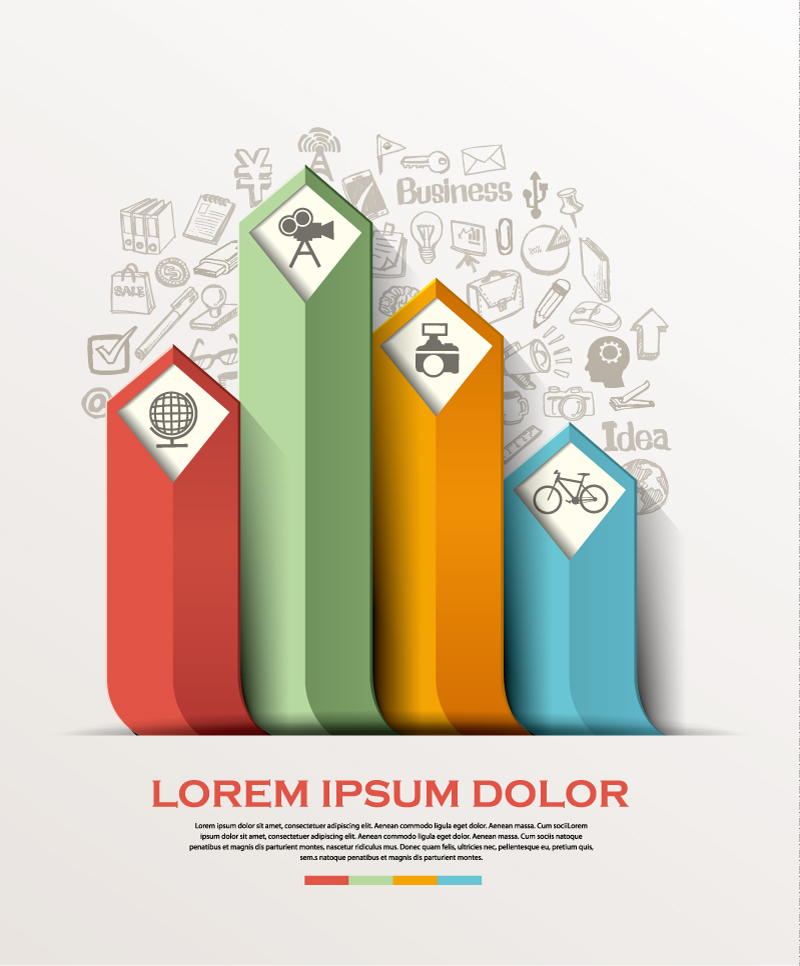 Infographic Color Business Vector