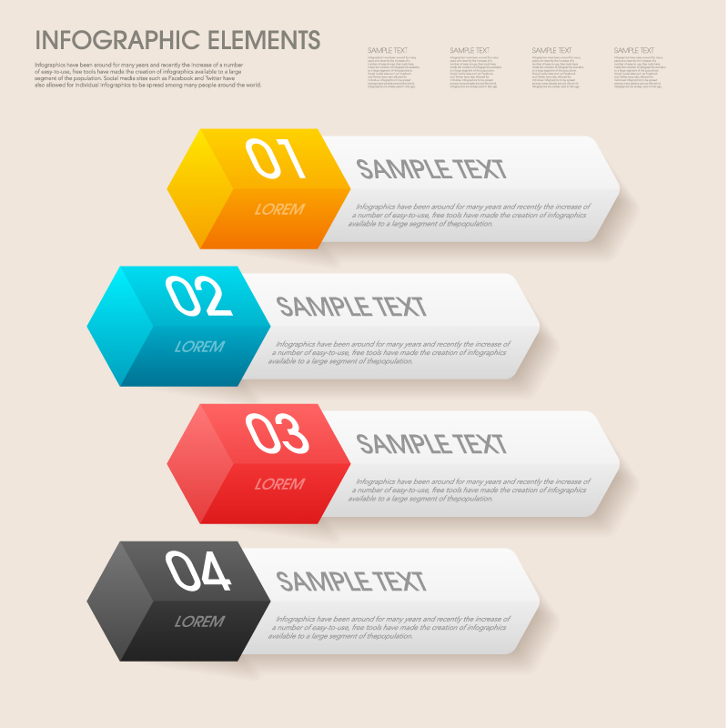 Infographic Color Chalk Vector