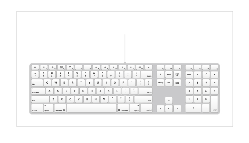 Mac Keyboard EN Vector