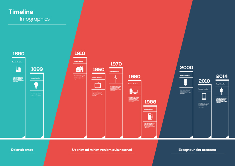 Timeline Infographic White Line Vector | Free Vector Graphic Download