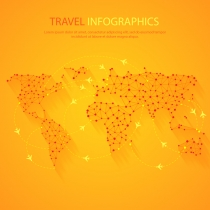 Infographics free vector graphic download travel infographics world map vector gumiabroncs Choice Image