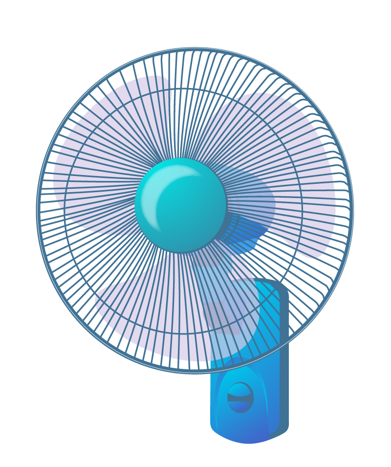Wall Hanging Fan Vector