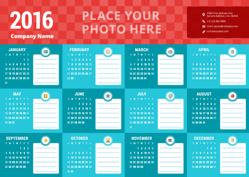 Beautiful-Red-Header-Calendar-2016-Vector
