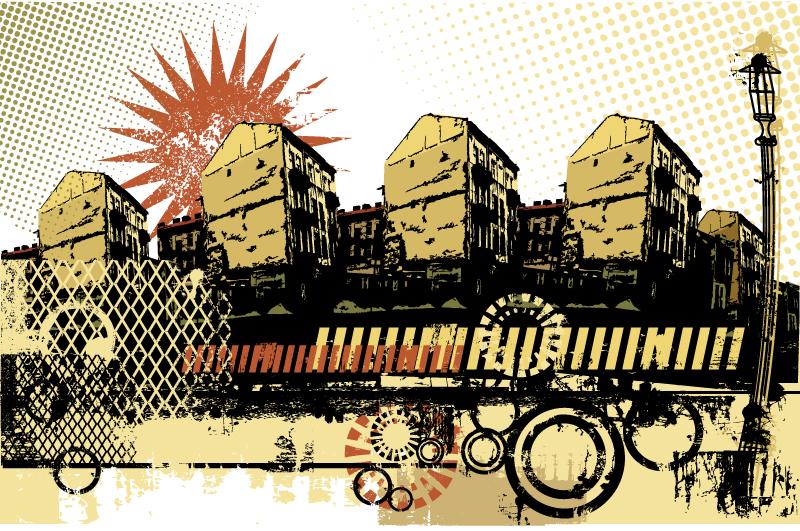 City Scape Grunge Vector
