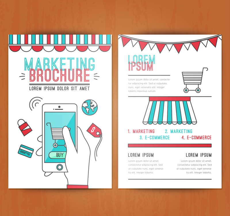 Marketing Brochure Vector