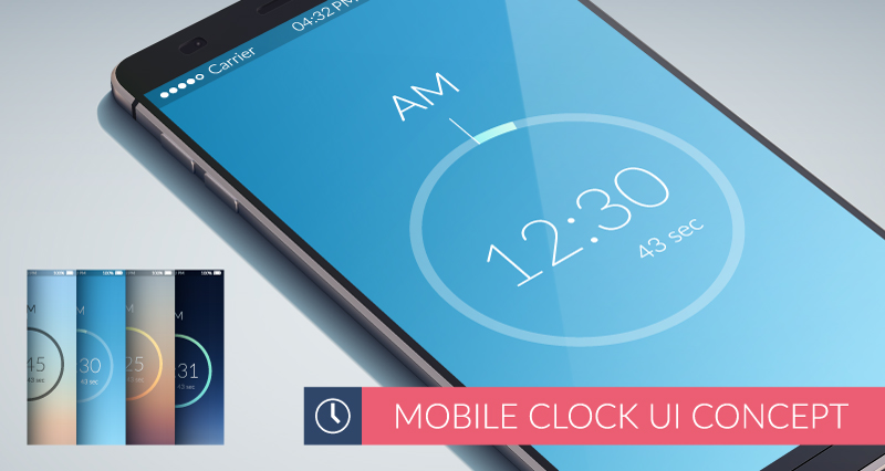 Mobile Lock Screen UI Vector