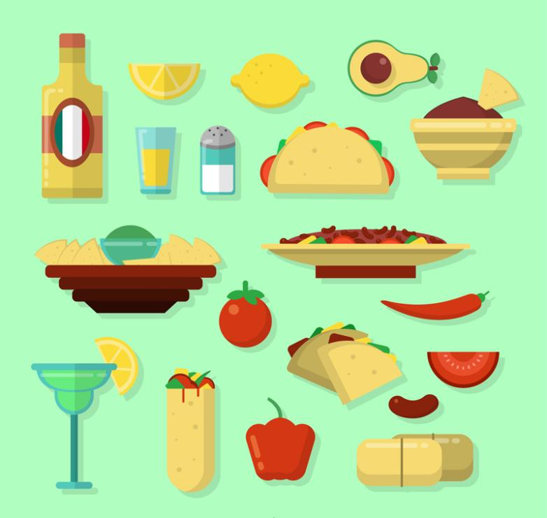 19 Vector Delicious Mexican Food