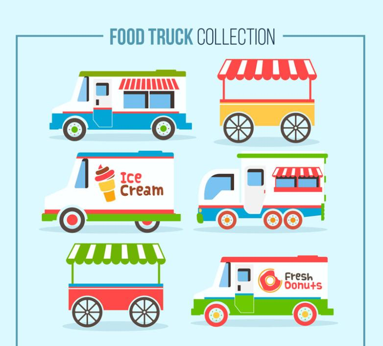 Six Creative Mobile Diners Vector