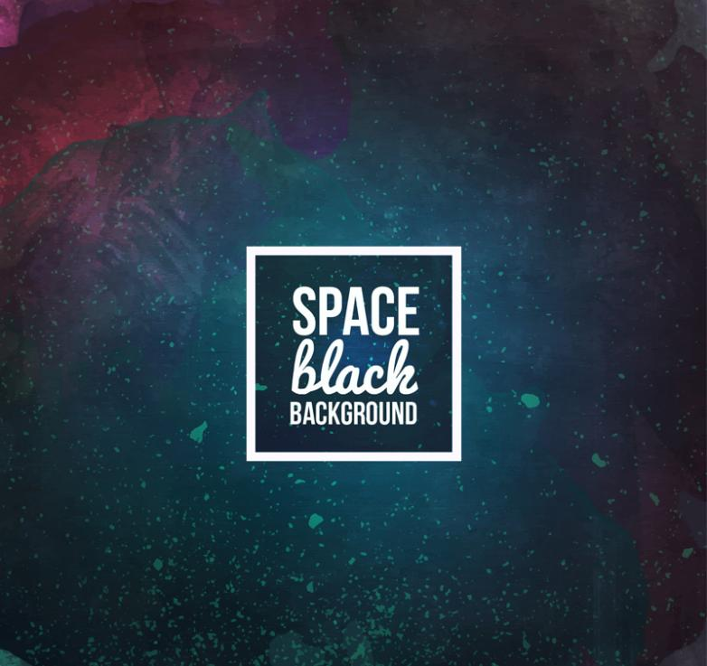 Creative Blue-black Vector Space Background