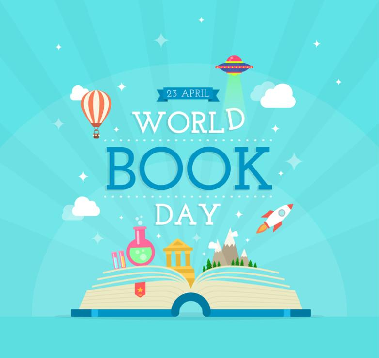 The Creative World Reading Day Cards Vector