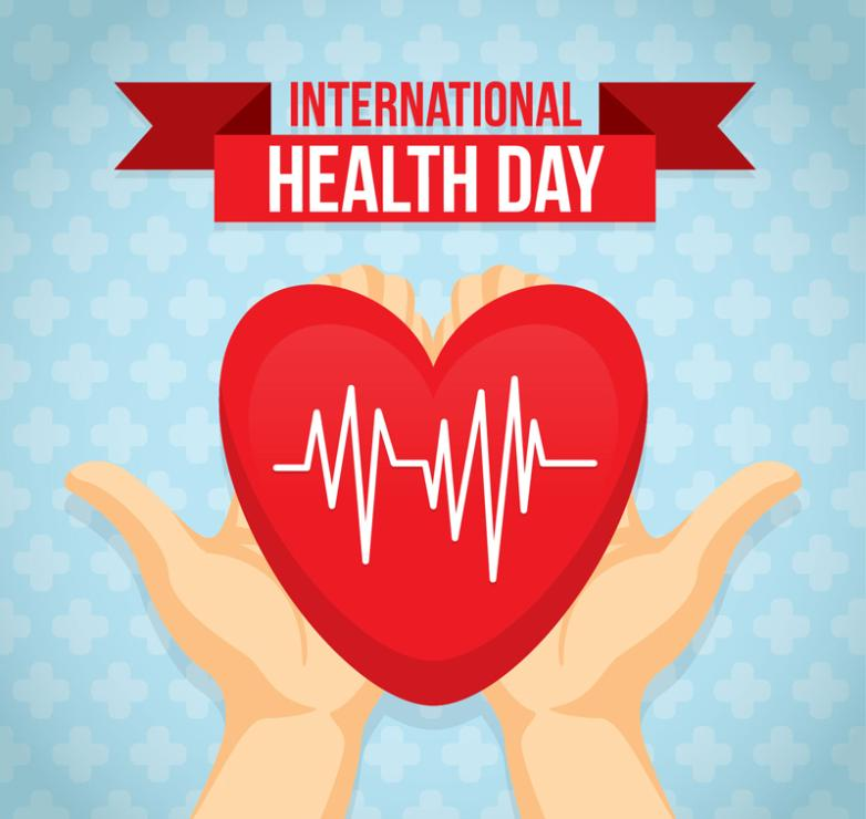 Holding The Hearts Of World Health Day Cards Vector Diagram