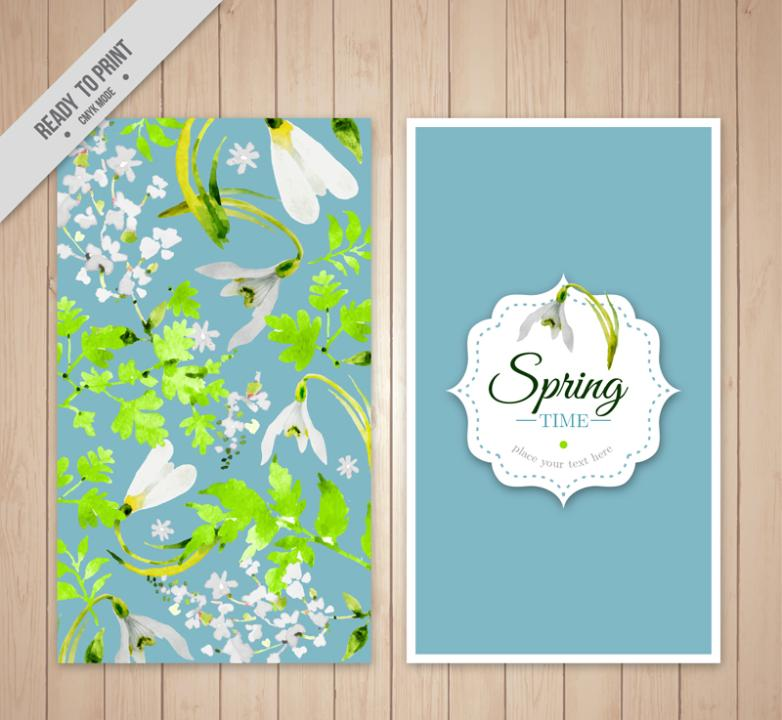 Water Spring Daffodils Coloured Drawing Or Pattern Card Vector Diagram
