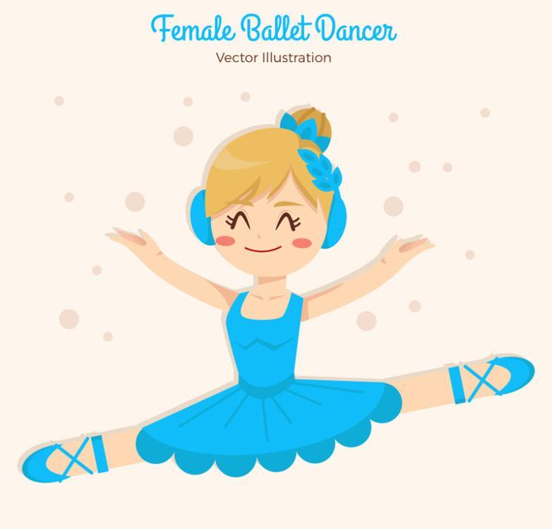 The Blue Skirt Ballerina Vector